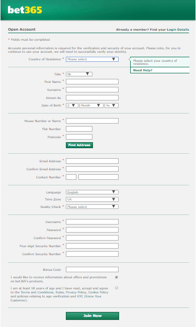 How to Register on Bet365