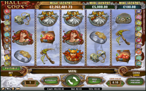 Hall of Gods Slots from NetEnt