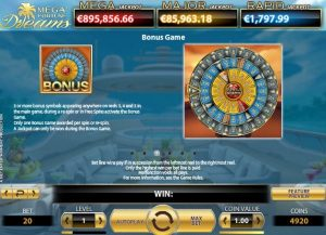 Mega Fortune Bonus Paytable