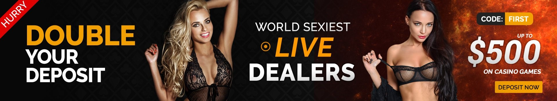 Pornhub Casino Double Your Deposit Banner